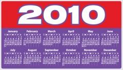 colorful 2010 calendar