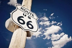 Historic Route 66 Sign in New Mexico