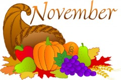 November - Thanksgiving Cornucopia
