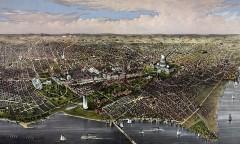 Washington, DC birds eye view - 1880
